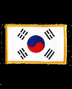 Aufnäher Stickabzeichen Korea Flagge