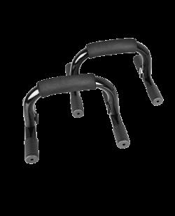 Liegestützhalterungen Bügel mit Griff schwarz/chrom