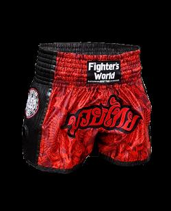 FW Thaibox Hose schwarz/rot Muay Thai Short