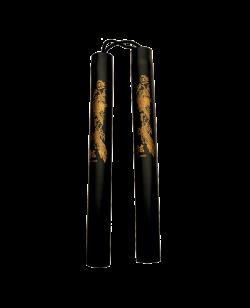 Nunchaku Soft Kihon Schnur Griffe rund 32cm