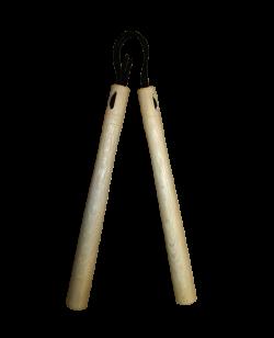 Nunchaku Demura Weißeiche Schnur Griffe
