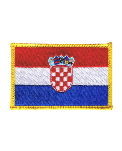 Aufnäher Stickabzeichen Kroatien Flagge