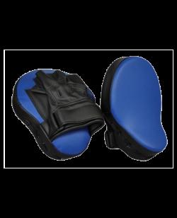 PX Handpratze gebogen Kunstleder blau/schwarz 2Stk. (1 Paar)