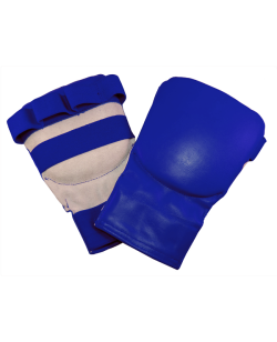 "Faustschutz ""Point"" Leder blau"