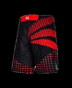PX MMA Shorts Stretch schwarz/rot