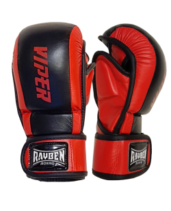 RAYBEN Grappling Handschuhe VIPER schwarz-rot Leder