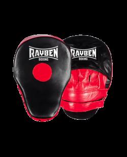 RAYBEN Handmitt Pratzen schwarz rot Leder 26x18cm 1Paar
