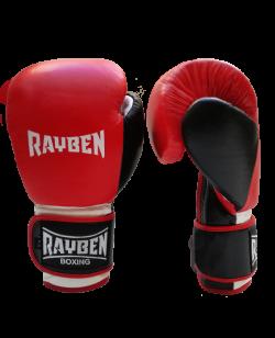 RayBen Boxhandschuhe Leder rot/weiß/schwarz