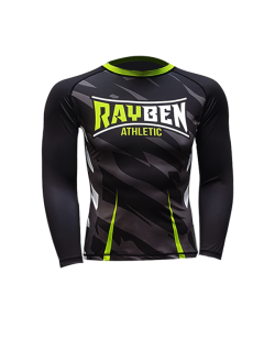 Rayben Zero Rashguard Langarm schwarz/grün