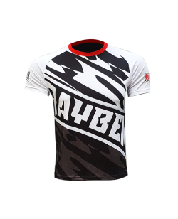 Rayben Zero T-shirt Kurzarm weiss/rot