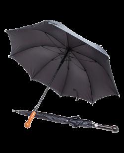 Selbstverteidigungs Schirm mit Knauf schwarz