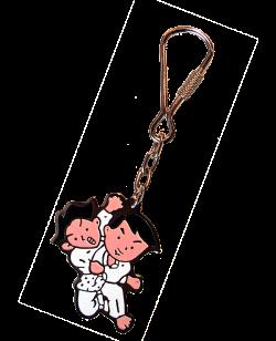 Schlüsselanhänger Judo/Jiu Wurf lackierte Metallplatte mit Keyring