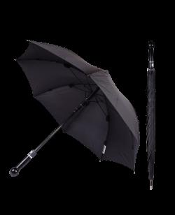 Sicherheitsschirm XXL stabiler Regenschirm mit Knauf schwarz Self Defense