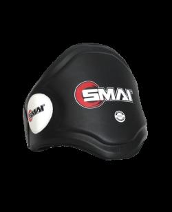 SMAI Belly Pad Thaibox Bauchschutz Echtleder schwarz-weiß