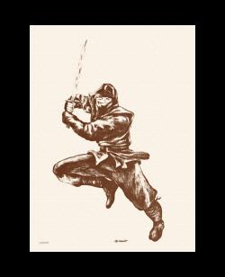 Stoffposter Ninja