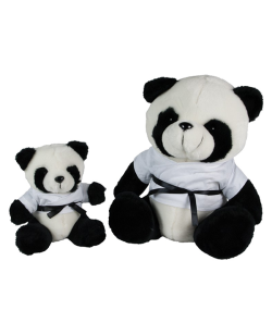 FW Stofftier Panda Master the Black Belt Fighter