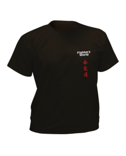 T-Shirt Aikido schwarz mit Bestickung