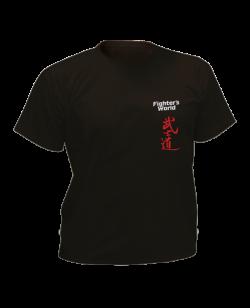 T-Shirt Bushido schwarz mit Bestickung