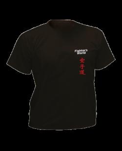 T-Shirt Karate schwarz mit Bestickung