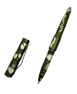 Fighter`s World Tactical Pen Glasbrecher, Drehverschluss  FW#44 olive/jungle green