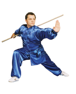 KungFu TaiChi  Anzug blaue Seide 180cm