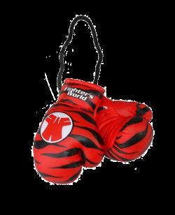 Original FIGHTERSWORLD TIGERGLOVE® Anhänger Midi-Boxhandschuhe rot/schwarz 1Paar