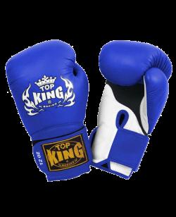 FW Velcro TOP+KING Boxhandschuh blau