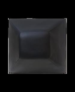 FW Wandschlagpolster Trapez Leder schwarz