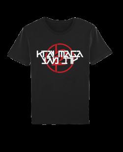 Krav Maga T-Shirt kurzarm schwarz/rot