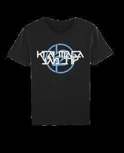 Krav Maga T-Shirt kurzarm schwarz/blau