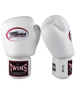 FW Twins Boxhandschuhe Pro Velcro Special Edition weiß