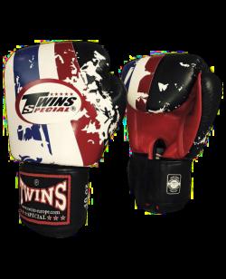 TWINS Thai Flag Boxhandschuhe mit Klettverschluss