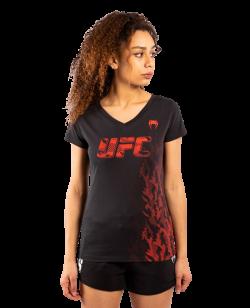 UFC Venum Authentic Fight Week Damen Kurzarm T-Shirt schwarz VNMUFC-00041-001