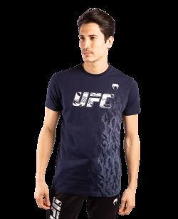 UFC Venum Authentic Fight Week Herren Kurzarm T-Shirt navy blue VNMUFC-00052-018
