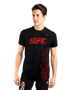 UFC Venum Authentic Fight Week Herren Kurzarm T-Shirt schwarz VNMUFC-00052-001