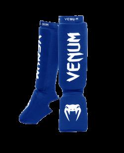 Venum Kontact Shinguards Schienbein Ristschutz Blau 0480