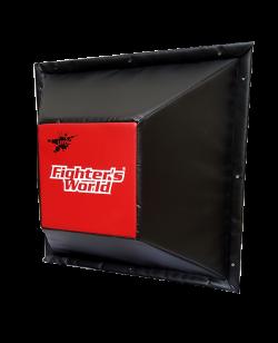 FW Wandschlagpolster Trapez aus Vinyl rot/schwarz
