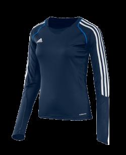 adidas T12 Clima Cool Shirt Langarm WOMAN blau adi X13172
