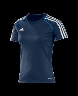 adidas T12 Clima Cool Shirt Kurzarm WOMAN blau adi X13856