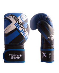 Fighter`s World  XENON ALPHA Boxhandschuhe 10 oz blue/black 10oz