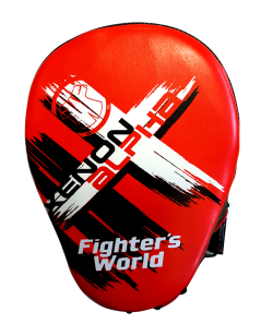 Fighter`s World XENON ALPHA Handpratze Focus Mitt red/black 1Paar
