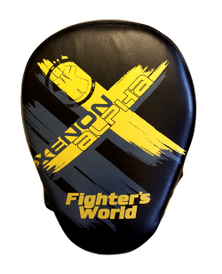 Fighter`s World XENON ALPHA Handpratze Focus Mitt black/yellow/grey 1Paar