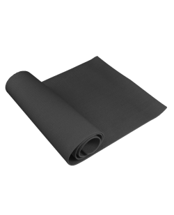 Yoga Matte schwarz 1,7m x 0,6m Dicke 6 mm.