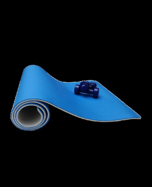 FW Yoga & Gymnastik Matte blau/grau 180x60cm Dicke 1cm