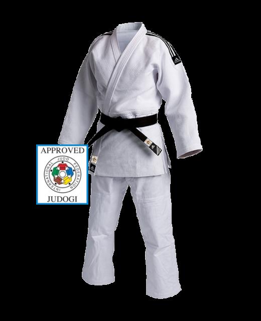 adidas J930 Champion1 Judo Anzug weiss 150cm blaues IJF Label 150cm