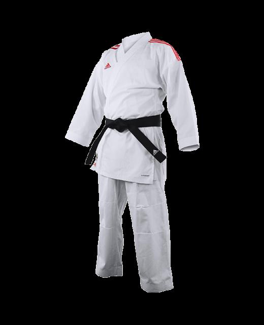 adidas K191SK Kumite Karate Anzug adiLight 185cm mit roten Schulterstreifen 185