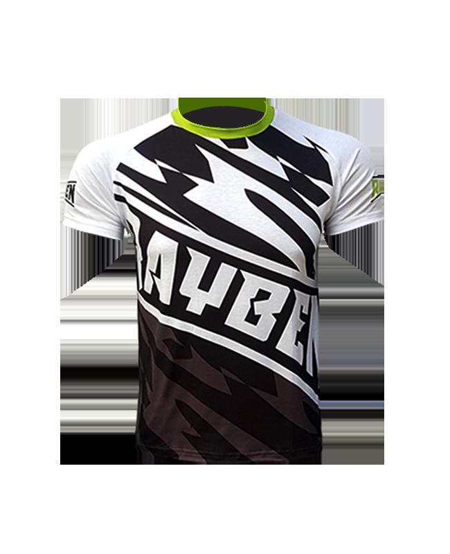 Rayben Zero T-Shirt Kurzarm weiss/gruen