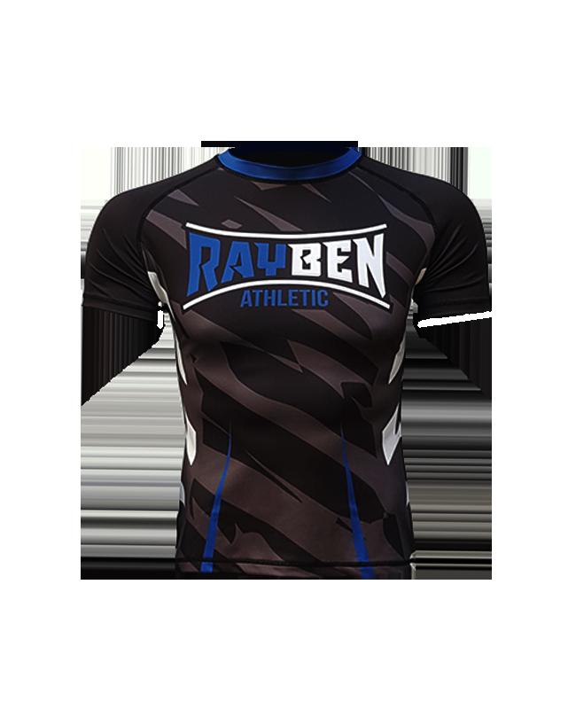 Rayben Zero Rashguard Kurzarm schwarz/blau