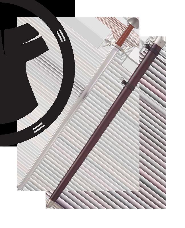 Schaukampfschwert Practical 11 Jhdt handgeschmiedet