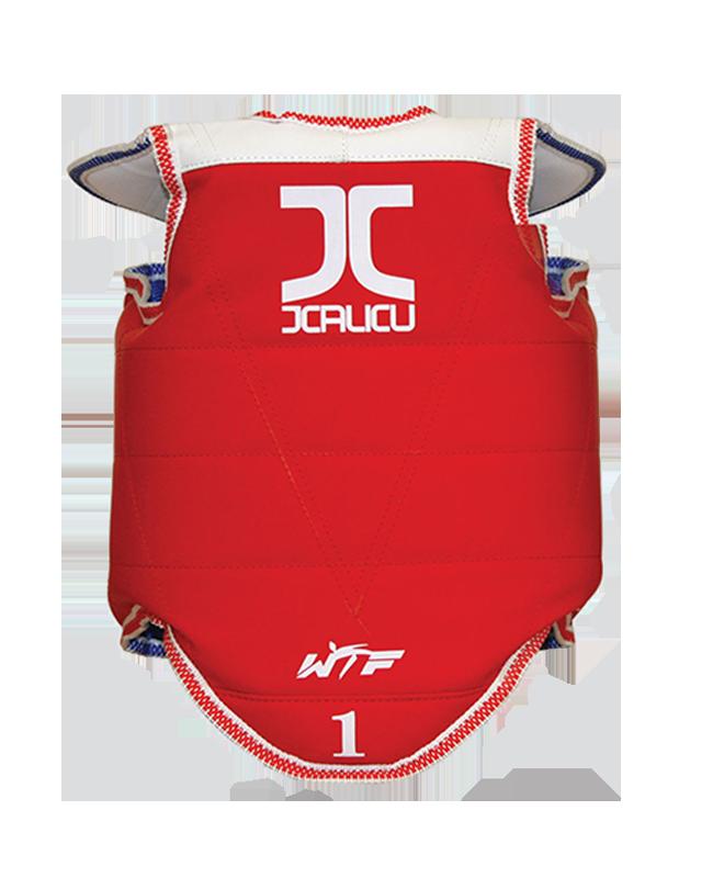 JCalicu Kampfweste Competition WTFapproved rot/blau beidseitig verwendbar